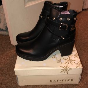 Buckle Faux Leather Boot